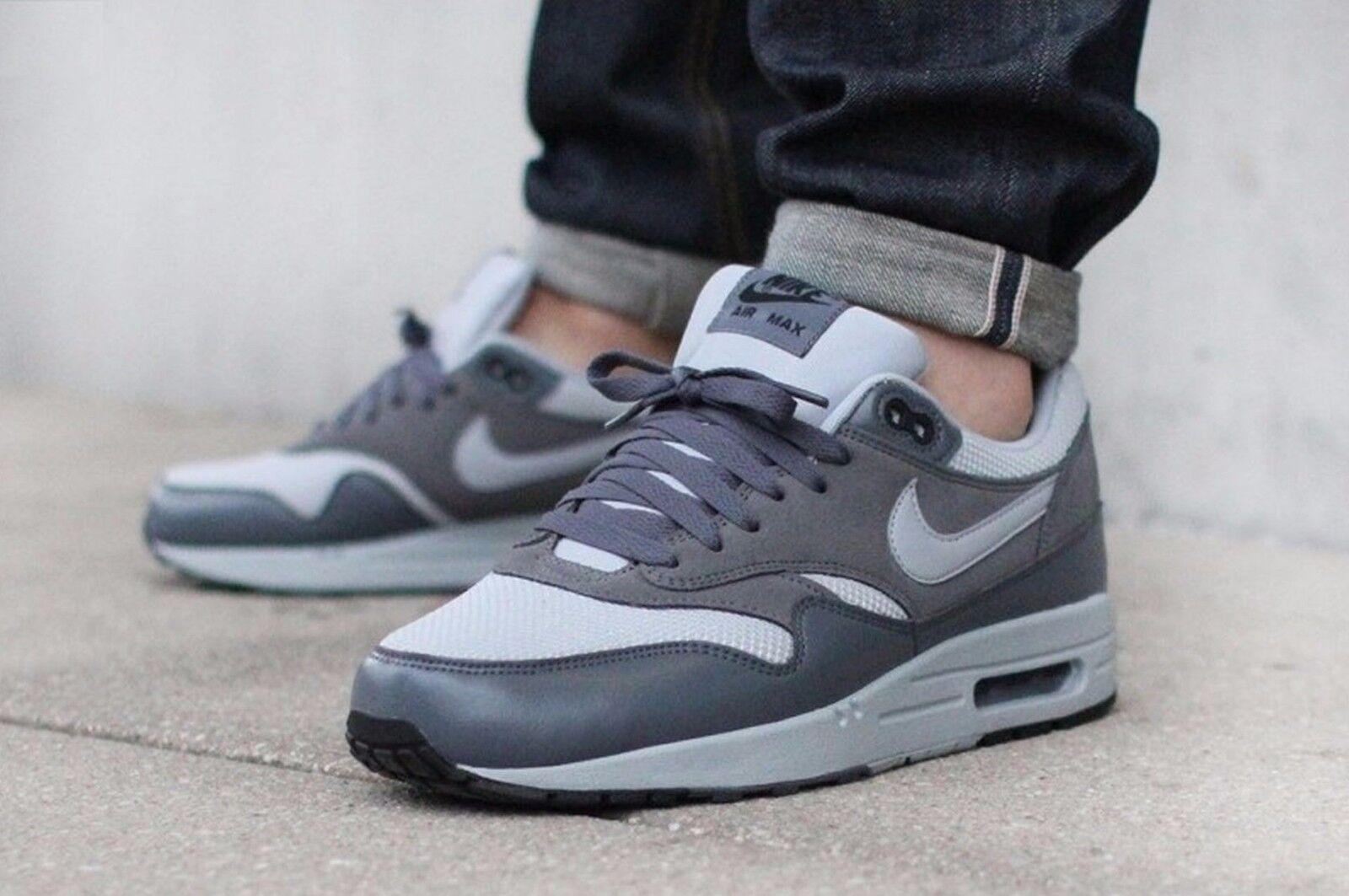 Nike Mens Air Max 1 Essential Mens Nike Sz 9 Wolf Grey/Wolf Grey-Dark Grey 537383-019 99f3e8