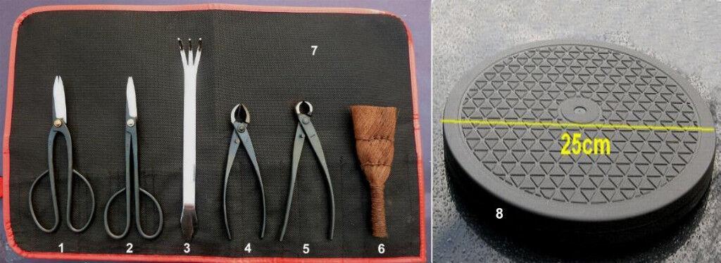 BONSAI Werkzeugset 8tlg -Tool Set 8 pieces - TOP JAPAN Ware