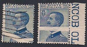 REGNO-1908-25-c-MICHETTI-VARIETA-039-NUOVO-E-USATO-n-83ma-SORANI-500