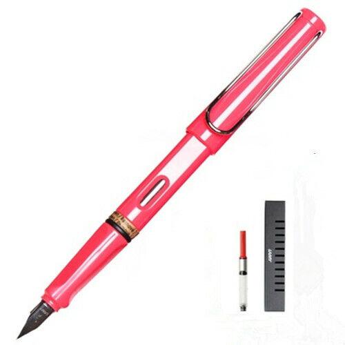 Lamy Safari Coral Pink With Silver Clip Fine Nib Fountain Pen New In Box