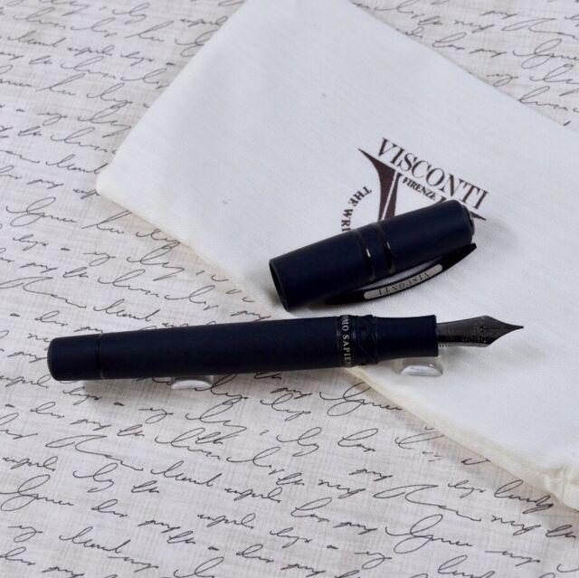 Visconti Homo Sapiens Dark Age Lava Oversize Fountain Pen 23k Palladium Nib