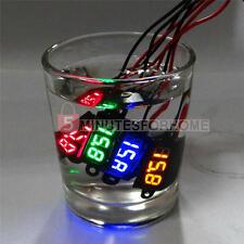 2x LED Voltmetro Digitale DC 0-100V Misura Tensione Voltaggio Cavo Lungo 20cm