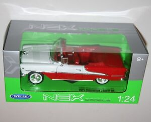 Welly-1955-OLDSMOBILE-SUPER-88-Conv-Red-White-Die-Cast-Model-Scale-1-24