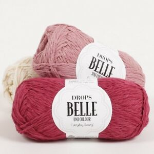 DROPS-Cotton-Linen-DK-yarn-BELLE-double-knitting-soft-summer-crochet-wool-50g