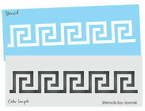 Details about Stencil Greek Key Border Wall Art Cottage Chic Neo Classic  Roman Decor Sign