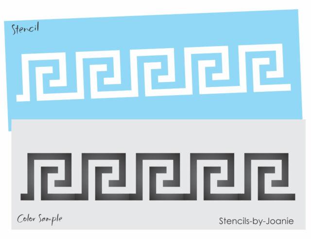 Greek Key Side Border Stencil #3 reusable Template for Crafting Wall DIY decor