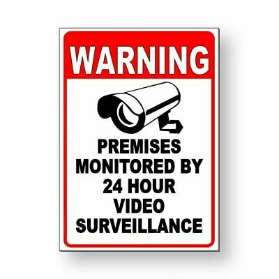 Details about  /No Trespassing Security 24 Hour Video Surveillance System Heavy Duty Metal Sign