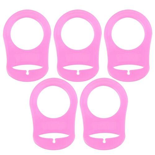 5x Silikon Knopf Baby Dummy Schnuller Halter Clip Adapter für MAM Cue flYf YW7