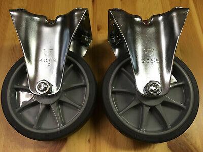 2 Stück Fetra Bockrollen 125 X 32 Mm Rollen Räder Reifen Mit Montageplatte Hoher Standard In QualitäT Und Hygiene