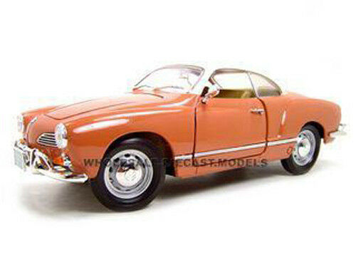 1966 VOLKSWAGEN KARMANN GHIA CORAL 1 18 DIECAST MODEL BY BY BY ROAD SIGNATURE 92198 5a5119