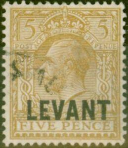 Britannique-Levant-1921-5d-Yellow-Brown-SGL21-Bon-Utilise