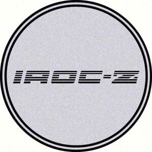 2 1 2 Iroc Wheel Center Cap Emblem Black Iroc Z Logo On A Silver Background Ebay