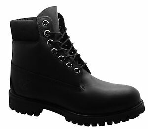 Details about Timberland AF 6 Inch Premium Black Leather Lace Up Mens Boots Shoes 10054 B8C
