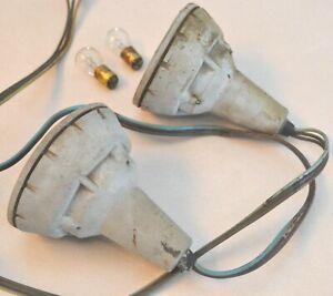 1959-Ford-Fairlane-Galaxie-Parking-Lamp-Light-Body-Housing-Cones-Wiring-amp-Bulbs