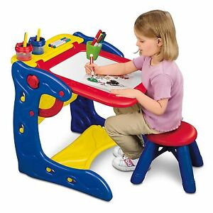 crayola qwikflip activity play center art desk with chair easel