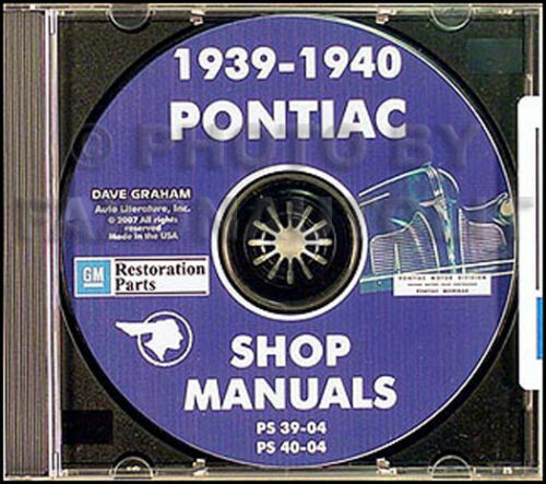1940 Pontiac Shop Manual on CD 40 Torpedo Deluxe Special Repair Service