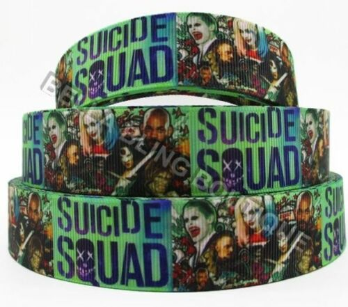 """1 2 3 Metro Metros chicos suicidio escuadrón Harley Quinn 1/"""" 25 mm cinta del grosgrain"""