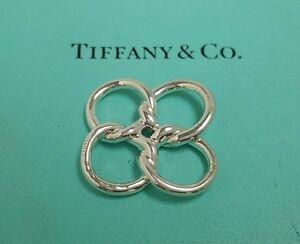 9a8c77342 Image is loading Tiffany-amp-Co-Silver-Elsa-Peretti-Quadrifoglio-Flower-