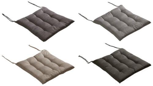 Stuhlkissen Sitzkissen Kissen mit Bändern 9-Punkt-Steppung 40x40x4 cm 4 Farben