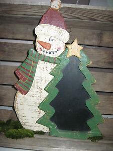 Kreidetafel-TAFEL-Schiefertafel-mit-Nikolaus-Weihnachtsdeko-Weihnachten-Figur