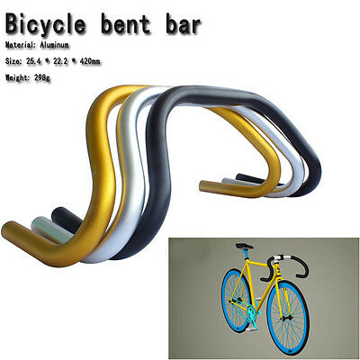 Road Bicycle bike Handlebar drop bent bar 25.4*22.2*420mm black silver red blue