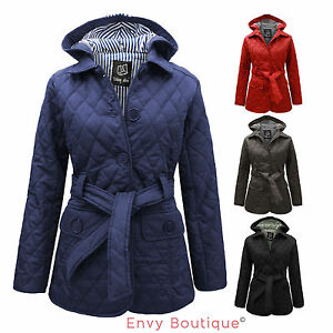 NEW-WOMENS-LADIES-QUILTED-PADDED-BUTTON-HOODED-WINTER-BELTED-JACKET-COAT-8-14