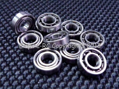 4x9x2.5mm 10 PCS Metal OPEN PRECISION Ball Bearing Set 4*9*2.5 684