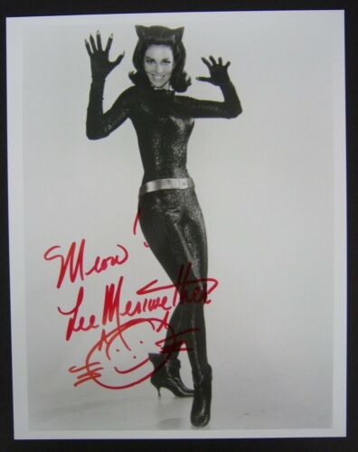 LEE MERIWETHER as CATWOMAN, Batman movie signed 8x10 photo, with COA