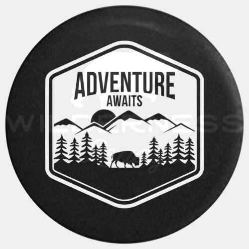 Spare Tire Cover For Jeep Wrangler Camper RV Jk Tj Yj Buffalo Adventure Awaits 2