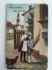 "Vintage Postcard - K V I B 12 #1110 ""Children at Play"""