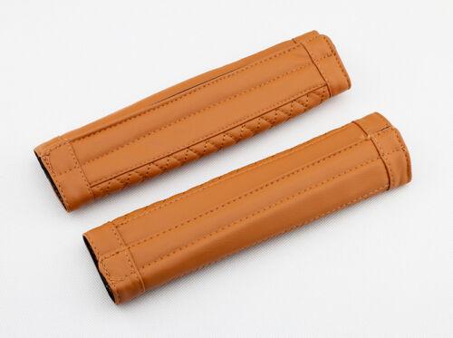 Brown Vehicle Safety Belt Seatbelt Clip Shoulder Comfort Protector Accessories