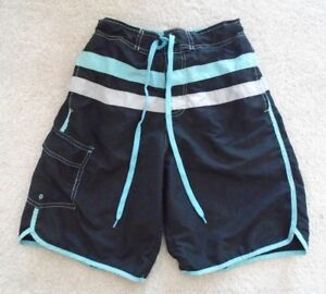 d97650d68b Men's RS Surf Swimwear Swim Trunks Teal Gray & Black Size Small | eBay