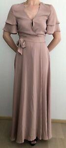 H-amp-M-Wickelkleid-Kleid-rosa-S-Maxikleid-Hochzeit-Blogger