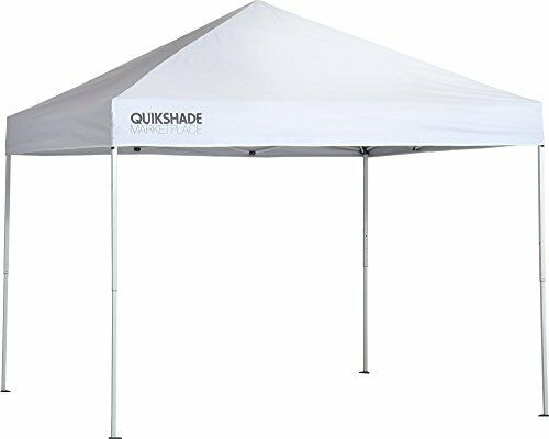Quik Shade Qs Mp100 10X10 Straight Leg Canopy, White Cover, White Frame