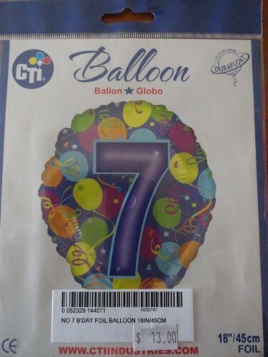 Party Foil balloons 45cm numbered 1st//18th//21st//30th//40th//50th//60th//70th//80th