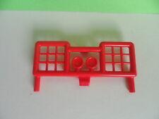 PLAYMOBIL – Parechoc avant, grille, garde boue rouge / Bumper, bush guard / 3041