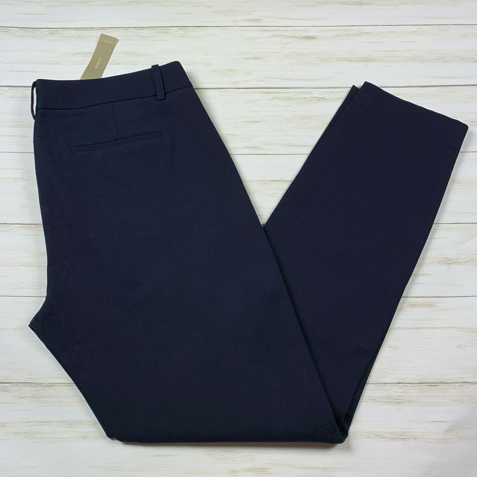 NEW NWT J. Crew Stretch Women's Tall Minnie Pant in Stretch Twill sz 10 navy