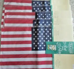 """75% off of 10 US Garden Flags by Toland 11"""" x 14"""" New in PKG.Overstock: You Win!"""