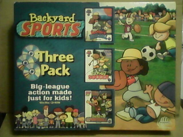 IWin Mac PC Backyard Baseball Soccer Football Three Pack ...