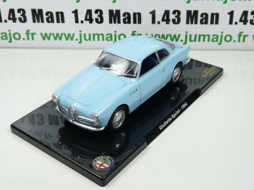 Alfa Romeo Giulietta Sprint 1954 VQ61G Auto 1//24 Leo Models Hachette
