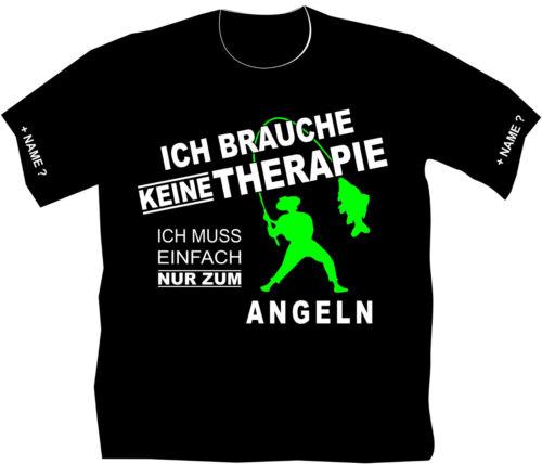Angler T-Shirt Angeln Therapie Funshirt lustiges Geschenk Geburtstag Karpfen 222