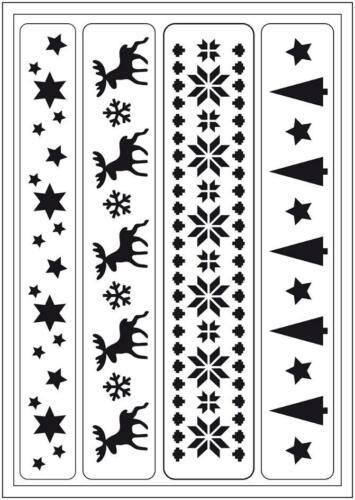 FLEX Schablone VIVA DECOR selbstklebend Stencil Textil Wand WEIHNACHTEN