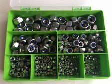 Stainless Steel A2 Nyloc Nut M3,M4,M5,M6,M8,M10,M12 - Kit of 300 Assorted sizes