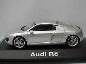 Rare Schuco Audi R8 Argent Métallisé Lancer Concessionnaire Promo 1:43 Neuf Box
