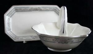Lenox-CHARLESTON-Butter-Tray-Small-Basket-VERY-GOOD-CONDITION