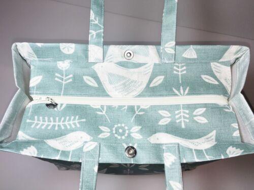 Nikki/'s Original Totes Handmade Oilcloth 100/% Cotton Bags Narvik Duck-Egg