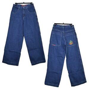 JNCO-BUDDHA-Baggy-Fit-24-034-Wide-Leg-Blue-Jeans-Men-039-s-Size-32x35-RARE-VINTAGE-90-039-s