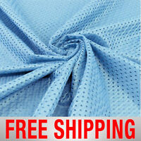Football Basketball Jersey Mesh Fabric Sports Sky Blue 60 Wide Free Shipping