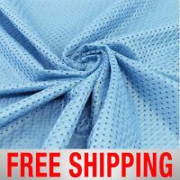 Football Basketball Jersey Mesh Fabric Sports Sky Blue 60 Wide Free Shipping