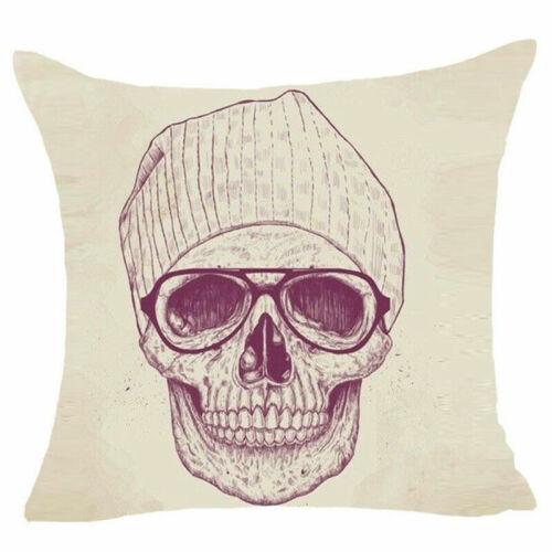 Skull Sofa Cushion Cover Throw Pillow Case Cotton Linen Pillow Cover Home Decor
